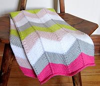 Ravelry: Chevron Baby Blanket pattern by Espace Tricot.  Yellow, gray and white.  No pink!