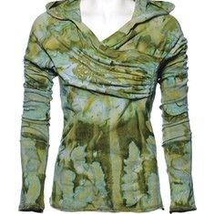 Ojai Clothing is designed to fit and embrace every part of your active life. Made from 95% cotton 5% Lycra, this yoga hoody features a unique tie dye print, a feminine silhouette and a comfortable fit. It is 25  long. #ShoebuyFallFashion
