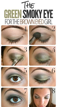 THE GREEN BROWN EYED SMOKEY EYE FOR THE GIRL