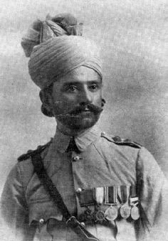 Khudadad Khan - The First South Asian recipient of the 'Victoria Cross' (British medal for bravery) in 1914.   Hollebeke, Belgium.