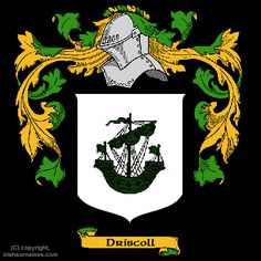 The Driscoll crest!  I think we started as the O Driscolls.
