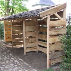 Whilst ancient within idea, this pergola is encountering a bit of a modern-day renaissance most Outdoor Firewood Rack, Firewood Shed, Firewood Storage, Pergola Patio, Pergola Kits, Backyard, Carport With Storage, Wood Store, Pergola Attached To House