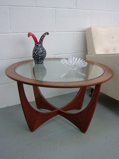 ercol g-plan coffee table...purchased from a charity shop for £20...worth...much more!