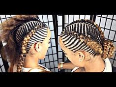 Fishbone braids are a beautiful protective style option. There are countless ways to wear fishbone braids. Take a look at 30 gorgeous fishbone braids styles. Two Braids With Weave, Braids With Beads, Braids For Long Hair, Black Braids, Chic Hairstyles, Braided Hairstyles, Protective Hairstyles, Iverson Braids, Cornrows With Extensions