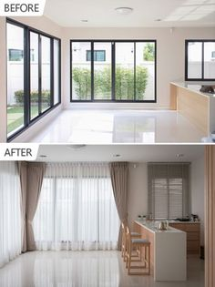 Before & After @ Blue Lagoon 2 บางนา-วงแหวน Blue Lagoon 2, Pleated Curtains, Roman Blinds, Contemporary Style, Ruffle Curtains, Roman Shades