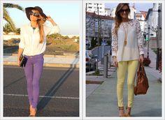 Olá! Quer saber como usar e com o que combinar sua calça colorida??? Então passa no blog que tem dicas e inspirações incríveis! Espero você! Bjs  http://www.dicasdestylist.com/2013/07/como-usar-calca-colorida.html