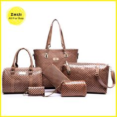 b46f8e3a0 HOT PRICES FROM ALI - Buy European and American brand women handbag  shoulder bag crocodile pattern handbag Handbag+Messenger Bag+rse+Wallet 6  sets