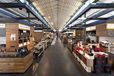 Schrannenhalle marketplace by Oliv Architekten Ingenieure, Munich store design
