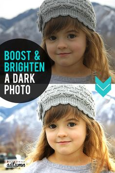 How to boost and brighten a dark photo. Easy photo editing tips. #itsalwaysautumn #photography #photospop