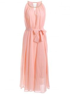 GET $50 NOW   Join RoseGal: Get YOUR $50 NOW!http://www.rosegal.com/chiffon-dresses/chain-keyhole-collar-chiffon-maxi-650894.html?seid=7100631rg650894