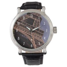 Paris Eiffel Tower Famous Landmark Photo Wrist Watch - holidays diy custom design cyo holiday family