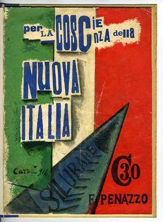 Carlo Carrà: Per la coscienza della nuova Italia, cover, 1914