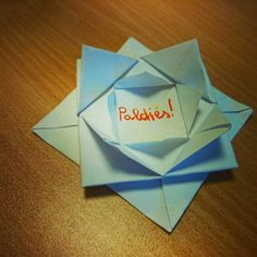 DAY 6 - made me smile.A gift from my patient) the word means - 'thank you' (latvian) Make Me Smile, Origami, Psychology, November, Challenge, Words, Gifts, Psicologia, November Born