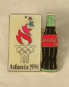 1996 Atlanta Olympic Games Pin Coca Cola Bottle