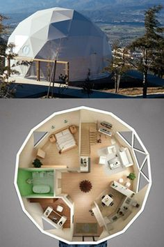 BDiR offers a complete turn-key solution for all your tensile structures. Specialize in design & build fabric tension structure and hotel dome tents. Dream Home Design, Home Design Plans, Silo House, Geodesic Dome Homes, Casas Containers, Dome House, Dome Tent, House Front Design, Dream House Exterior