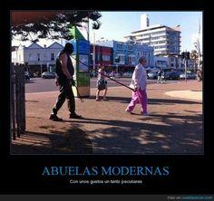 ABUELAS MODERNAS - Con unos gustos un tanto peculiares   Gracias a http://www.cuantarazon.com/   Si quieres leer la noticia completa visita: http://www.estoy-aburrido.com/abuelas-modernas-con-unos-gustos-un-tanto-peculiares/