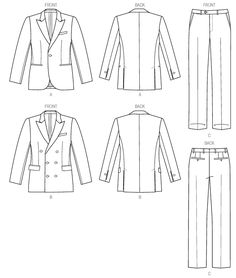 This is the pattern I used at the fabric store to estimate fabric usage. I like the pants better than the jacket.