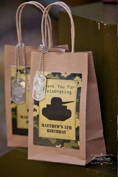 Fun favors at an Army Camouflage Birthday Party! See more party ideas at CatchM. - Real Time - Diet, Exercise, Fitness, Finance You for Healthy articles ideas Army Themed Birthday, Camouflage Birthday Party, Army Birthday Parties, Army's Birthday, Camo Party, Birthday Party Themes, Birthday Ideas, Birthday Favors, Paintball Party