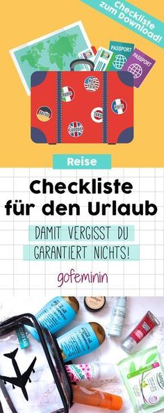 Das muss mit! Checkliste für den Urlaub zum Download