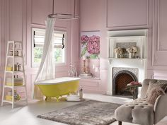 Behr Paints announces their 2015 Color Trends with 20 all-new exclusive paint colors and four inspirational design styles. Best Interior Paint, Interior Paint Colors, Home Interior, Interior Design, Best Bedroom Paint Colors, New Paint Colors, Pantone, Pastel Bathroom, Bathroom Bath