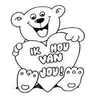 kleurplaten hartjes met beer