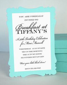 Buffet Sign  Breakfast at Tiffany's Collection  by by LoraleeLewis, $12.00