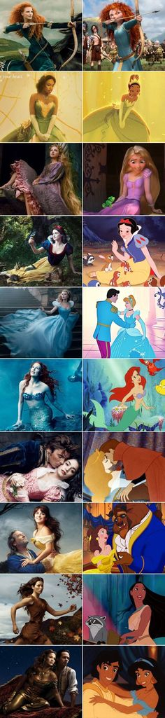 Disney movies in real life!!