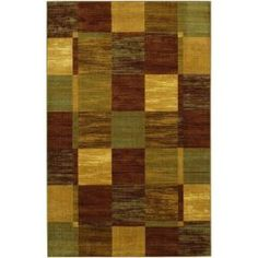Mohawk Home Simple Squares Brown 5 ft. x 8 ft. Area Rug $114.00 /EA-Each #BigLots