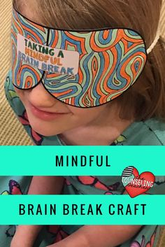 Show students how to recharge with mindful moments.  This eye mask craft includes zen mindful coloring for a brain break.  Students can wear the masks and meditate.  #mindfulness #mindfulnessbrainbreak #mindfulmoment #schoolcounseling #schoolcounselor