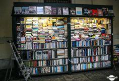 Street bookstore in Torino, Italy.