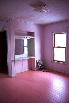 empty pink room