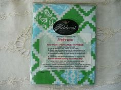 Pair of Vintage Blue and Green Fieldcrest Pillow by MossyCottage, $12.00