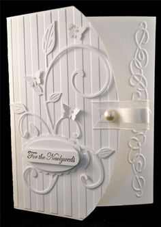 Stampin Up Elegant Scroll Wedding Greeting Card Kit or Die in Whisper White | eBay