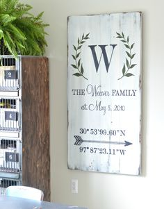 Photo gallery of custom signs - Aimee Weaver Designs, LLC Diy Signs, Wall Signs, Painted Signs, Wooden Signs, Board And Brush, Wood Crafts, Diy Crafts, Client Gifts, Family Signs
