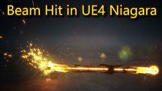 Beam Hit Effect | Unreal Engine Niagara Tutorials | UE4 Niagara Beam Game Engine, Unreal Engine, Beams, Engineering, Tutorials, Movie Posters, Game Motor, Film Poster, Popcorn Posters