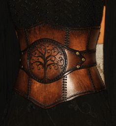 leather corset  (tree of life) by Lagueuse.deviantart.com on @DeviantArt