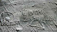 Plague graffiti, St Mary the Virgin, Sawston, Cambridgeshire saying Watton and 'miserere mei deus' (may God have mercy upon)