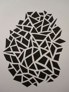 easy art idea part - paper cutout