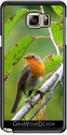 Silicone Case for Samsung Galaxy Note 5 - MM - Robin redbreast - by PINO