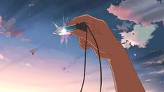 The crystal gif. -- Children Who Chase Lost Voices Japanese films movies moments Anime Gifs, Art Anime, Japanese Animated Movies, Japanese Film, Aesthetic Gif, Aesthetic Pictures, Hoshi O Ou Kodomo, She And Her Cat, Film Animation Japonais