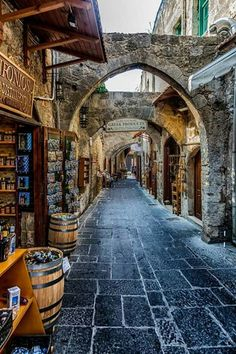 "luxurious-art: "" The medieval Town of Rhodes Island, Greece "" Rhodes Island Greece, Greece Islands, Old Town Rhodes, Faliraki Rhodes, Medieval Village, The Places Youll Go, Places To Visit, Beautiful World, Beautiful Places"