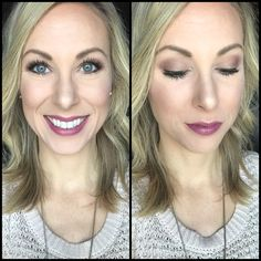 Younique look! Eyes: Pressed Shadows in Nimble, Fervent, and Antsy; Precision Liquid Liner in Proper, and Epic Mascara. Lips: Pencil Lip Liner in Pompous with Opulence Lipstick in Well-To-Do on top.