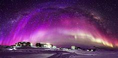 Auroras australes y la Vía Láctea desde la Antártida | El Universo Hoy