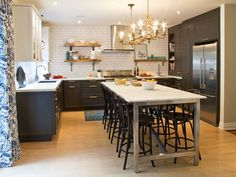 15 tips for making the most out of your tiny kitchen – Cottage Life - Island as dining table
