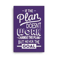 Goal Motivational Wall Art Canvas - Inspirational Wall Decor Quotes - 24x36 / Purple