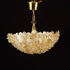 Barovier & Toso Murano Flower Glass Ceiling Light 1950s | From a ...