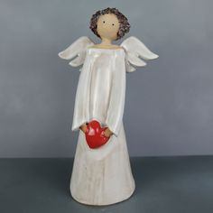 Clay Christmas Decorations, Christmas Crafts, Paper Clay, Clay Art, Clay Angel, Pottery Angels, Ceramic Angels, Fondant Decorations, Pottery Designs