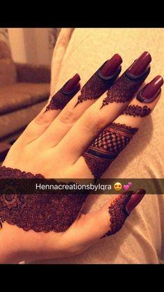 Henna Design By Fatima Kashee's Mehndi Designs, Pretty Henna Designs, Modern Henna Designs, Floral Henna Designs, Finger Henna Designs, Mehndi Designs For Girls, Mehndi Designs For Beginners, Mehndi Design Photos, Wedding Mehndi Designs