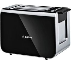 Buy Bosch TAT86104GB 2 Slice Styline Toaster - Black at Argos.co.uk - Your Online Shop for Toasters, Kitchen electricals, Home and garden.