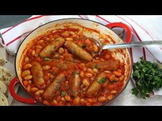 A quick and easy family dinner recipe; Sausage & Butterbean Casserole, cooked on the hob in less than 30 minutes!